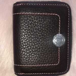 Coach brown pebbled leather wallet nwot